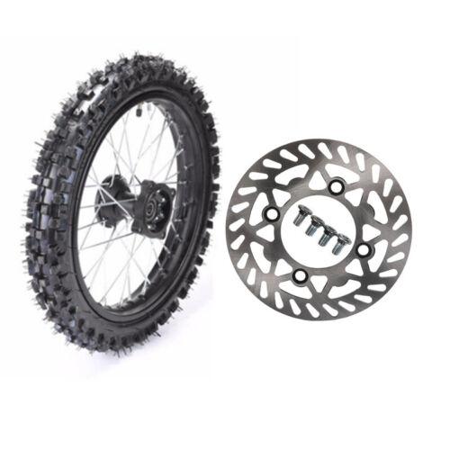 "80//100-12 Rear Wheel Rim Tire w// Disc Rotor 110cc 125cc SSR Dirt Pit Bike 12/"""