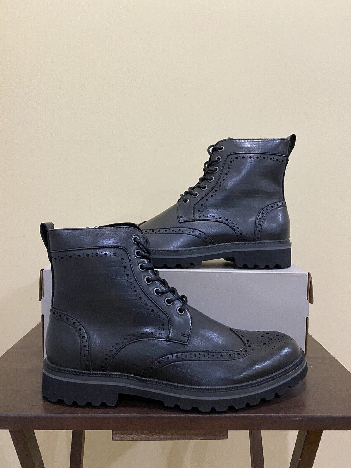 Kenneth Cole Reaction Klay Lug WT Boot Black Size 10 New RMF0042AM