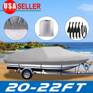 20-22FT-Trailerable-Boat-Cover-Waterproof-Non-Abrasive-Lining-V-Hull-Beam-100-039-039