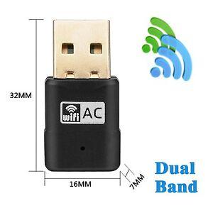 WiFi Dual Band USB Adapter AC 5G 600 Mbps,Wifi clé,Compatible avec Windows