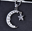 miniature 11 - Star Moon Necklace Silver Crystal Jewellery 925 Chain Pendant Gift Woman Girl CZ