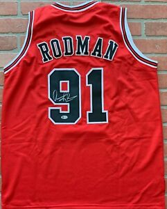 the best attitude 8b7c9 9f5bf Details about Dennis Rodman autographed signed jersey NBA Chicago Bulls PSA  COA The Worm