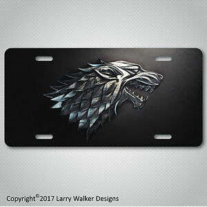 House-Stark-Game-of-Thrones-Aluminum-License-Plate-Tag-New