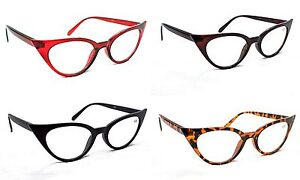 Fashion-1950-60s-Cat-Eye-Reading-Glasses-Stylish-7-Lens-power-amp-4-Colours-MT57