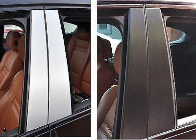 6x Tür leisten Zierleisten SET B Säule Verkleidung Struktur Folie Tuning Alu geb