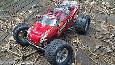 ROLLER+Servo+Red Body+Tire+Wheel+Wheelie Bar Rustler VXL Traxxas 370763 1:10 2WD