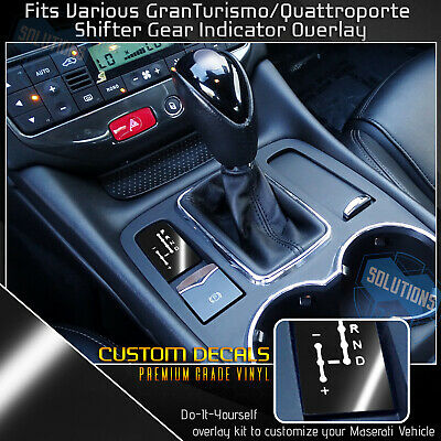Gloss Black Optix Shifter Gear Position Indicator Vinyl Overlay Wrap Decal Compatible with Maserati Granturismo Quattroporte