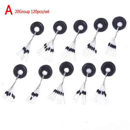 20Group 120pcs//set Tackle Resistance Space Beans Rod Clip//o-shaped Accessori ZF
