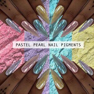 9c0ec0adfa84 Image is loading Pastel-Pearl-Chrome-Powder-Pigment-Nail-Pigments-Art-