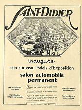 PARIS AUTOMOBILES SAINT-DIDIER PHARES ECLAIRAGE SERVA PUBLICITE 1925