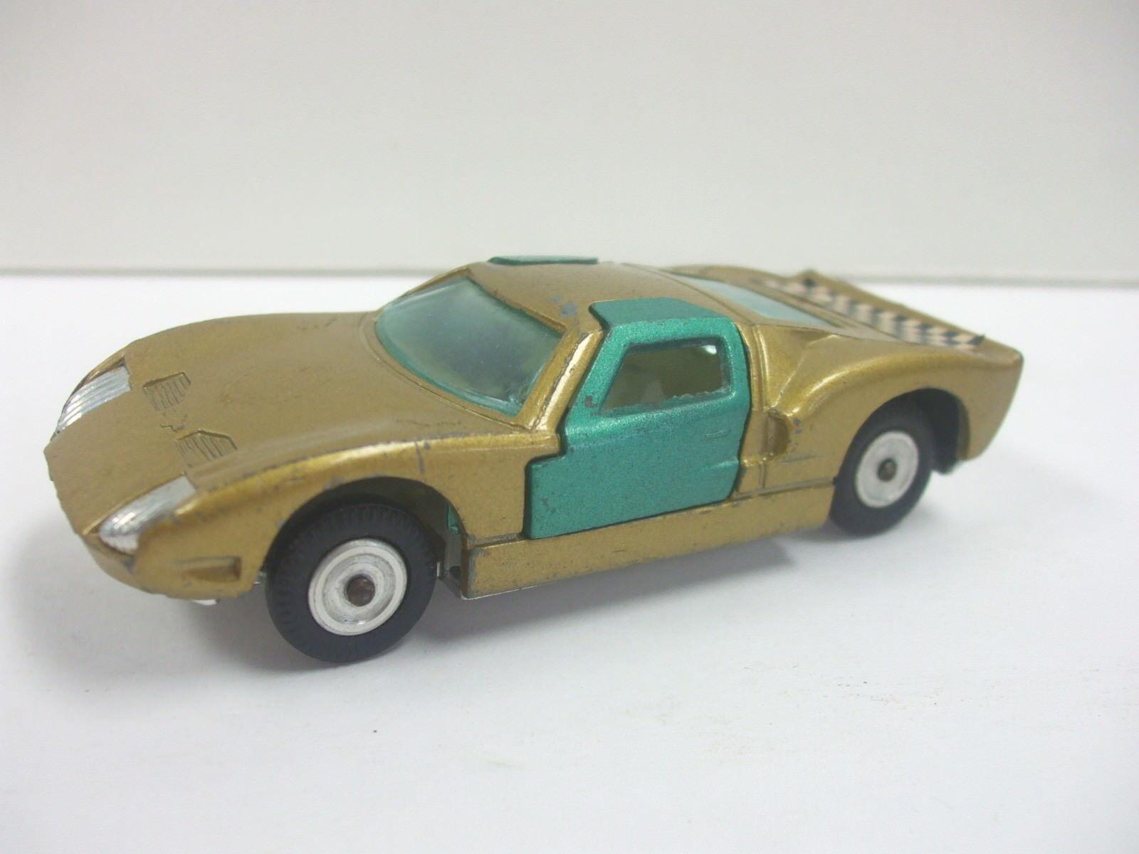 Gamada Koor Sabra Ford GT No.8104 dorado y verde 1 43 Die Cast Coche Hecho En Israel