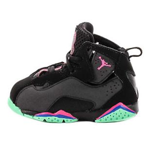 520b6e7aa053 Nike Jordan True Flight (TD) NEW AUTHENTIC Black Pink Green 343797 ...