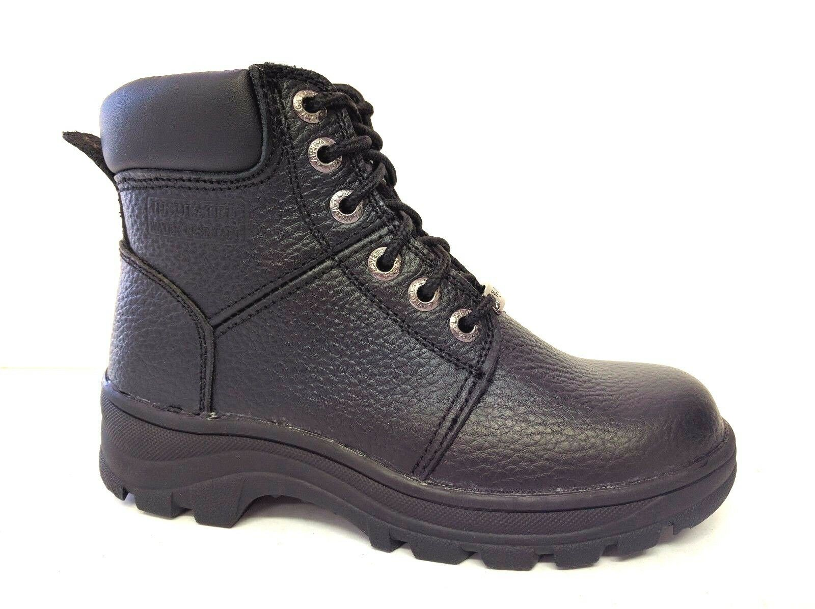Vegace - LaVega Women Black Leather Relax Fit Work Boot Oil Slip Resistant 6531