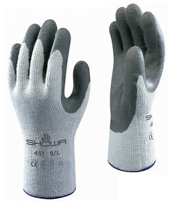 Of showa 451 thermo work wear gloves thermal winter warm safety grip