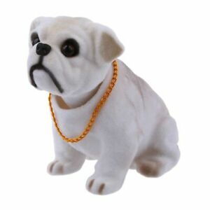 Bulldog-Perro-Blanco-Gris-asintiendo-Decoracion-para-coche-T2S1