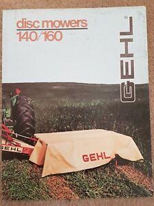 Le Prix Le Moins Cher Gehl 140/160 Disc Mower Sales Brochure-afficher Le Titre D'origine