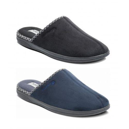 Padders Albert Luke Mens Slippers Black Brown Navy Grey Size 6 7 8 9 10 11 12 13