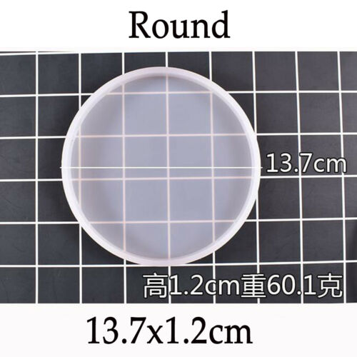 Assorted Round Coaster Resin Epoxy Silicone Molds Jewelry DIY Making Mould