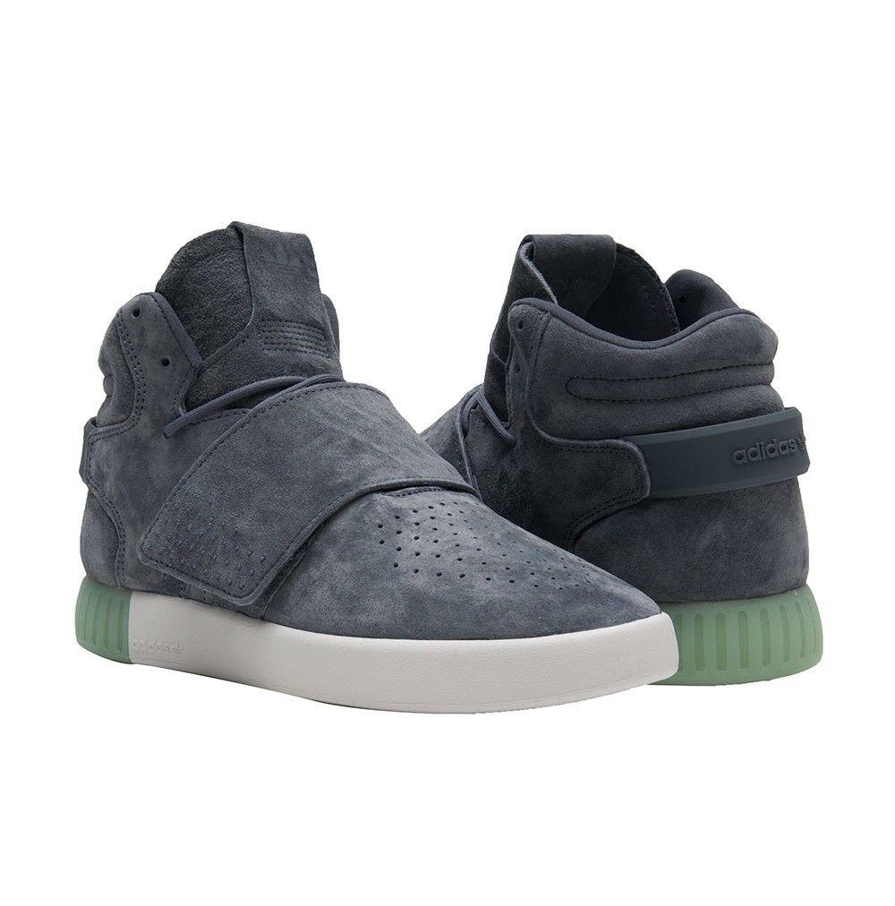 Women's ADIDAS TUBULAR invader sz Strap sz invader 9 Grey Athletic Shoes Suede B39367 c92c5a