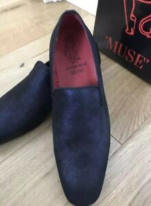 West on £210 Uk Eu 8 42 Rrp Dark Loafer Slip Mens Jeffery Blue New Shoes Muse 0CdwxR60q
