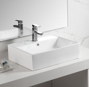 Bathroom-Rectangle-Porcelain-Ceramic-Vessel-Vanity-Sink-White-Above-Counter
