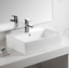 Bathroom-Rectangle-Porcelain-Ceramic-Vessel-Vanity-Sink-White-Above-Counter thumbnail 1