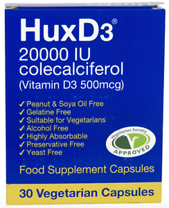 Image is loading HuxD3-20-000IU-Vitamin-Food-Supplement-Suitable-For-