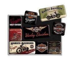 HD Harley Davidson Magnet-Set 9 tlg. Bikes Merchandise 83037 Geschenkbox