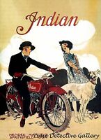 Vintage Indian Motorcycle Advertisement (3) - Poster In 3 Sizes