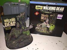 Rare WALKING DEAD SEASON 4 LTD EDITION TREE WALKER 5 DISC BLU RAY SET