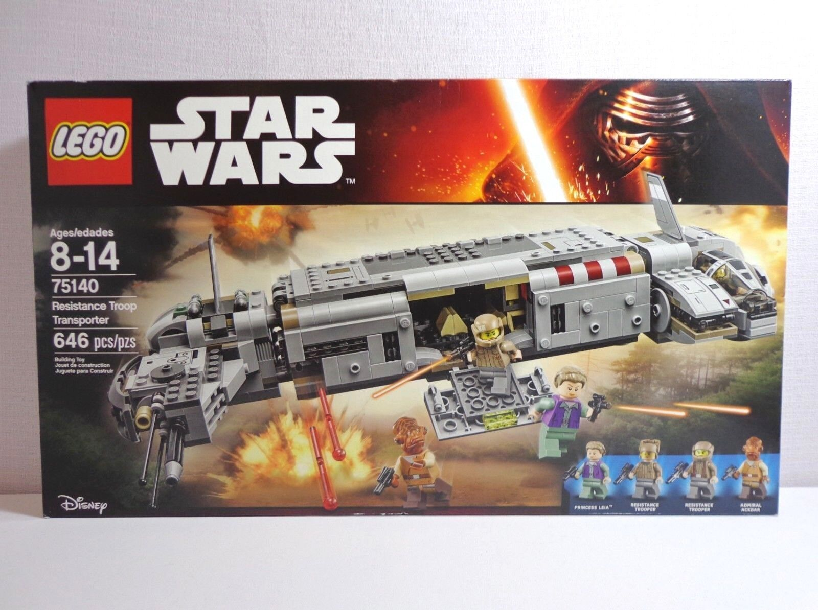 Lego Star Wars Ep 7 75140 Resistance Troop Transporter Nuovo in Sealed Box