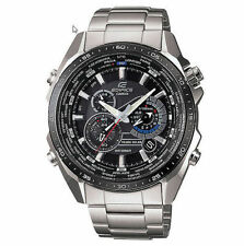 Casio Edifice Solar Powered Chronograph Watch, World Time, Alarm,  EQS500DB-1A1