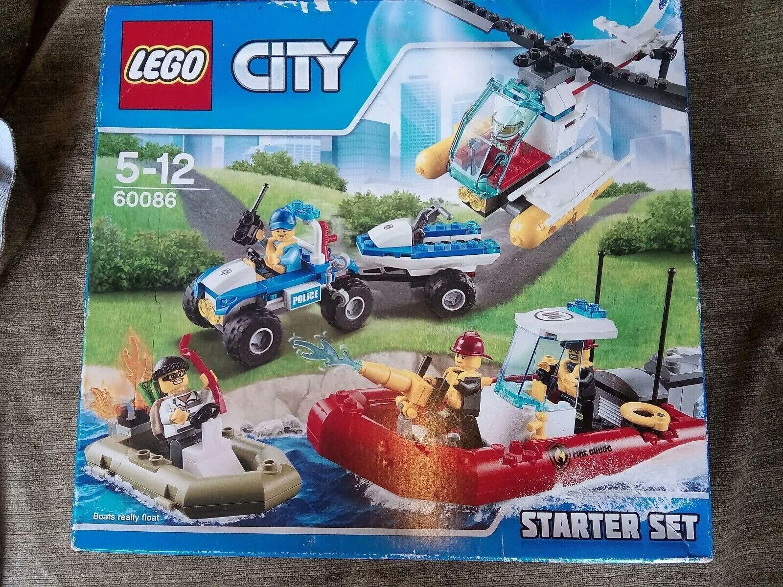 LEGO City Starter Set 60086 Fire Police Helicopter BNIB New Sealed - Retired