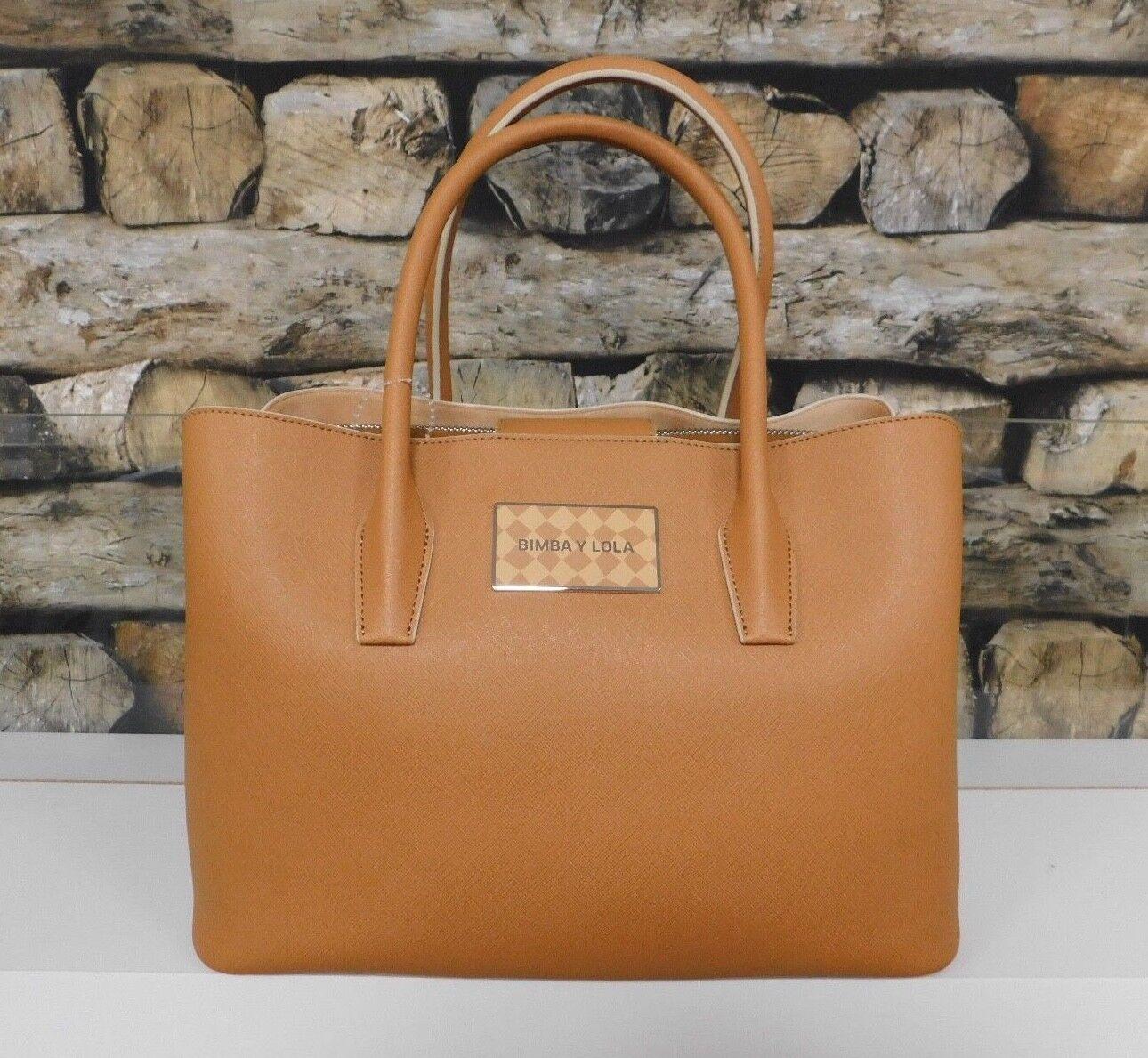 BIMBA Y Y Y LOLA Damen Tasche Handtasche Bag Handbag Elegant Leder Leather Braun NEU | Vorzüglich  688fe0