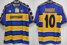 2001-2002 Parma Jersey Shirt Maglia Home parmalat UEFA Cup Nakata #10 L BNWT