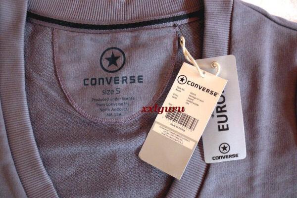 CONVERSE ALL STAR Sweatshirt Long S M L  Heritage V-Neck Pullover Modern TOP NEU