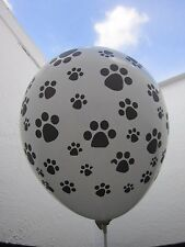 6 x Paw Patrol  Balloons dog footprints Party Decoration Supplies latex white