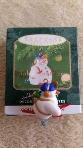 Hallmark 2001 Holiday Flurries Snowman Series Miniature ...
