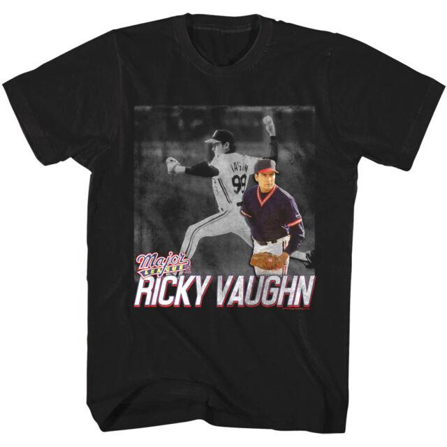 major league ricky vaughn baseball s t shirt sheen