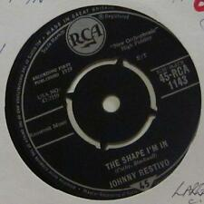 """Johnny Restivo(7"""" Vinyl 2nd State)The Shape I'm In-RCA-RCA 1143-UK-Ex/VG"""