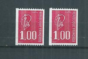 France Luxe. N° 1895 2 Roulettes N° Rouge Type Bequet Neufs **