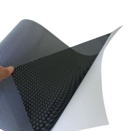One Way Folie Lochfolie für Digitaldruck 100cm x 122cm Sichtschutzfolie Schwarz