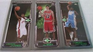 2003-04-Topps-Rookie-Matrix-JHA-LeBron-James-111-RC-Kirk-Hinrich-117-RC-Carmelo