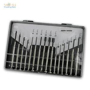 Uhrmacher-Werkzeug-Box-Set-16-teilig-Werkzeugsatz-Feinmechaniker-Schraubendreher