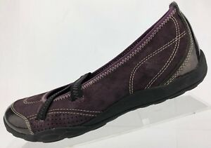 Clarks-Privo-Mary-Jane-Acacia-Purple-Leather-Comfort-Walking-Shoes-Womens-7-5-M
