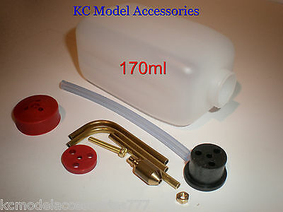 RC Fuel Tank 170ml 6oz Ideal For Glow/ Nitro With Fitting Kit inc Tubing
