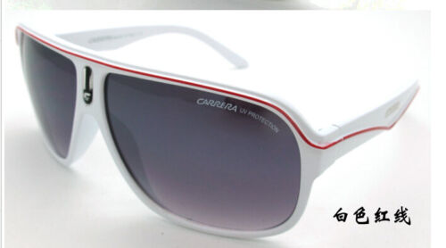 Fashion Men /& Women/'s Retro Sunglasses Unisex Matte Frame Carrera Glasses Box