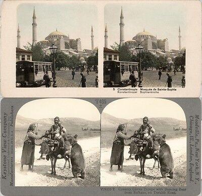 18 Stereofotos Türkei Turkey Istanbul Constantinopel, Motive 1900, Lot 1