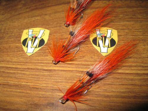 3 V Fly Taglia 14 Ultimate CAMPER alleato dei gamberetti di bassa marea Doppio Salmone Mosche