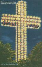 Postcard Montreal Quebec Mount Royal Cross La Croix du Mont Royal 1940